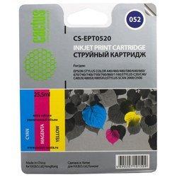 Картридж для Epson Stylus Color 400, 440, 460, 500, 600, 640, 650, 660, 670, 700, 750 (Cactus CS-EPT0520) (цветной) - Картридж для принтера, МФУ