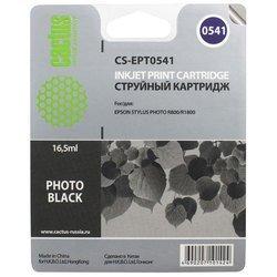 Картридж для Epson PM 2000, 600, 670, 680, 700, 750, 770, Stylus Color 400, 440, 460, 500, 600, 640, 650, 660, 670, 700, 750 (Cactus CS-EPT0541) (черный фото) - Картридж для принтера, МФУ