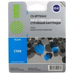Картридж для Epson PM 2000, 600, 670, 680, 700, 750, 770, Stylus Color 400, 440, 460, 500, 600, 640, 650, 660, 670, 700, 750 (Cactus CS-EPT0542) (голубой) - Картридж для принтера, МФУ