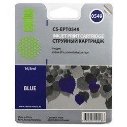 Картридж для Epson PM 2000, 600, 670, 680, 700, 750, 770, Stylus Color 400, 440, 460, 500, 600, 640, 650, 660, 670, 700, 750 (Cactus CS-EPT0549) (синий) - Картридж для принтера, МФУ