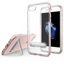 Чехол-накладка для Apple iPhone 7, 8 (Spigen Crystal Hybrid 042CS20461) (розовое золото) - Чехол для телефонаЧехлы для мобильных телефонов<br>Удобный и компактный чехол, обеспечит защиту от негативных внешних воздействий.