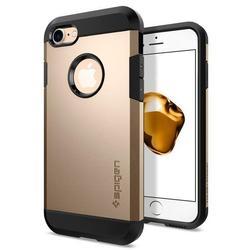 Чехол-накладка для Apple iPhone 7, 8 (Spigen Tough Armor 042CS20490) (шампань) - Чехол для телефонаЧехлы для мобильных телефонов<br>Защитит смартфон от грязи, пыли, брызг и других внешних воздействий.