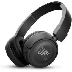 JBL T450BT (черный) - НаушникиНаушники и Bluetooth-гарнитуры<br>JBL T450BT - наушники беспроводные, есть возможность подключения через кабель, накладные, закрытые, Bluetooth 4.0, частотный диапазон 20 - 20000Гц, регулятор громкости, микрофон, импеданс 32Ом, 3.5 мм (mini jack), диаметр мембраны 32мм. Время непрерывной работы 11 ч, время заряда 2ч.