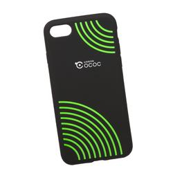 Чехол-накладка для Apple iPhone 7, 8 (0L-00029754) (зеленые круги) - Чехол для телефонаЧехлы для мобильных телефонов<br>Силиконовый чехол-накладка для Apple iPhone 7 поможет защитить Ваш мобильный телефон от царапин, потертостей и других нежелательных повреждений.