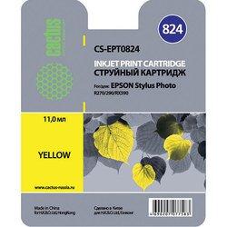 Картридж для Epson Stylus Photo R270, 290, RX590 Cactus CS-EPT0824 (желтый) - Картридж для принтера, МФУКартриджи<br>Желтый картридж Cactus CS-EPT0824 для принтеров Epson Stylus Photo R270, 290, RX590 позволит распечатать до 460 страниц.