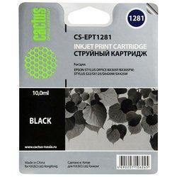 Картридж для Epson Stylus S22, BX305, SX125, 420, 425 Cactus CS-EPT1281 (черный) - Картридж для принтера, МФУ