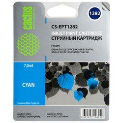 Картридж для Epson Stylus S22, BX305, SX125, 420, 425 Cactus CS-EPT1282 (голубой) - Картридж для принтера, МФУ