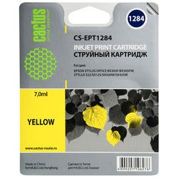 Картридж для Epson Stylus S22, BX305, SX125, 420, 425 Cactus CS-EPT1284 (желтый) - Картридж для принтера, МФУ