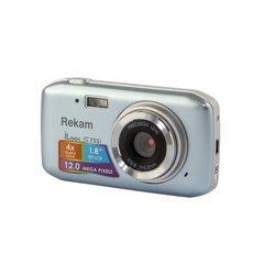 Rekam iLook S755i (серебристый) - Фотоаппарат цифровойЦифровые фотоаппараты<br>Rekam iLook S755i - фотокамера, матрица 12 МП (1/2.3quot;), съемка видео 720p, экран 1.8quot;, вес 70 г.