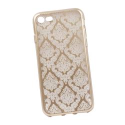 Чехол-накладка для Apple iPhone 7, 8 (0L-00029603) (цветочный узор, золотистый) - Чехол для телефонаЧехлы для мобильных телефонов<br>Силиконовый чехол-накладка для Apple iPhone 7 поможет защитить Ваш мобильный телефон от царапин, потертостей и других нежелательных повреждений.