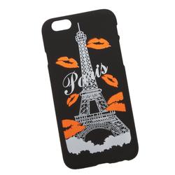 Силиконовый чехол-накладка для Apple iPhone 6, 6S (0L-00029715) (Париж оранжевые губки) - Чехол для телефонаЧехлы для мобильных телефонов<br>Силиконовый чехол-накладка для Apple iPhone 6, 6S поможет защитить Ваш мобильный телефон от царапин, потертостей и других нежелательных повреждений.