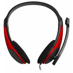 Oklick HS-M150 (черный, красный) - Компьютерная гарнитураКомпьютерные гарнитуры<br>Oklick HS-M150 - проводная компьютерная гарнитура, стерео, вид наушников: накладные, разъем mini jack 3.5 mm, оголовье, частотный диапазон: 20 - 20000 Гц, длина кабеля 2 м.