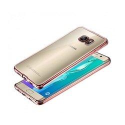 Силиконовый чехол-накладка для Samsung Galaxy S6 Edge (iBox Blaze YT000009968) (розовый) - Чехол для телефонаЧехлы для мобильных телефонов<br>Чехол плотно облегает корпус и гарантирует надежную защиту от царапин и потертостей.