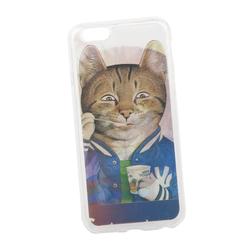 Чехол-накладка для Apple iPhone 6, 6s (Liberti Project 0L-00029360) (прозрачный) - Чехол для телефонаЧехлы для мобильных телефонов<br>Чехол-накладка плотно облегает заднюю крышку телефона и надежно защищает его от пыли и царапин.