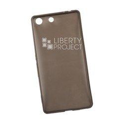 Силиконовый чехол-накладка для Sony Xperia M5 (Liberti Project 0L-00028398) (прозрачный, черный) - Чехол для телефонаЧехлы для мобильных телефонов<br>Чехол-накладка плотно облегает заднюю крышку телефона и гарантирует ее надежную защиту от пыли, царапин, потертостей и других вешних воздействий, ультратонкий.