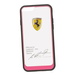 Чехол-накладка для Apple iPhone 6, 6S (Ferrari 0L-00029889) (прозрачный, розовый кант) - Чехол для телефонаЧехлы для мобильных телефонов<br>Чехол-накладка плотно облегает заднюю крышку телефона и гарантирует ее надежную защиту от пыли, царапин, потертостей и других вешних воздействий.