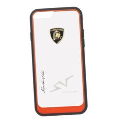 Чехол-накладка для Apple iPhone 6, 6S (Lamborghini 0L-00029901) (прозрачный, красный кант) - Чехол для телефонаЧехлы для мобильных телефонов<br>Чехол-накладка плотно облегает заднюю крышку телефона и гарантирует ее надежную защиту от пыли, царапин, потертостей и других вешних воздействий.