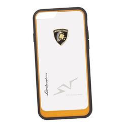 Чехол-накладка для Apple iPhone 6, 6S (Lamborghini 0L-00029899) (прозрачный, оранжевый кант) - Чехол для телефонаЧехлы для мобильных телефонов<br>Чехол-накладка плотно облегает заднюю крышку телефона и гарантирует ее надежную защиту от пыли, царапин, потертостей и других вешних воздействий.