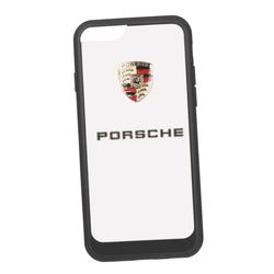 Чехол-накладка для Apple iPhone 6, 6S (Porsche 0L-00029891) (прозрачный, черный кант) - Чехол для телефонаЧехлы для мобильных телефонов<br>Чехол-накладка плотно облегает заднюю крышку телефона и гарантирует ее надежную защиту от пыли, царапин, потертостей и других вешних воздействий.