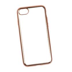Чехол-накладка для Apple iPhone 7, 8 (0L-00029780) (прозрачный с розовой рамкой) - Чехол для телефонаЧехлы для мобильных телефонов<br>Силиконовый чехол-накладка для Apple iPhone 7 поможет защитить Ваш мобильный телефон от царапин, потертостей и других нежелательных повреждений.