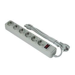 Сетевой фильтр 6 розеток 3м (Exegate SP-6-3G EX119392RUS) (серый) - Сетевой фильтрУдлинители и сетевые фильтры<br>Сетевой фильтр 6 розеток, длина шнура 3м.