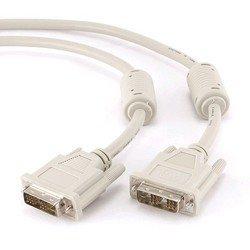 Кабель DVI-D-DVI-D Ssingle link 1.8м (Gembird/Cablexpert CC-DVI-6C) (белый) - Кабель, переходникКабели, шлейфы<br>Кабель DVI-D-DVI-D, экранированный, ферритовые кольца, длина 1.8м.