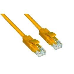Патч-корд UTP кат. 6, RJ45 0.5м (Greenconnect GCR-LNC602-0.5m) (желтый) - КабельСетевые аксессуары<br>Высокотехнологичный современный патч-корд для подключения к интернету на высокой скорости. Прямой, UTP, кат.6, RJ45, позолоченные контакты, литой, длина кабеля 0.5м.