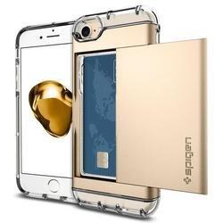 Чехол-накладка для Apple iPhone 7, 8 (Spigen Crystal Wallet 042CS20983) (шампань) - Чехол для телефонаЧехлы для мобильных телефонов<br>Обеспечит защиту устройства от ударов и падений.