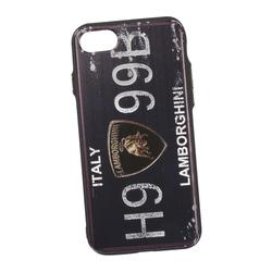 Чехол-накладка для Apple iPhone 7, 8 (Liberty Project 0L-00030311) (Номер Италия Ламборгини) - Чехол для телефонаЧехлы для мобильных телефонов<br>Чехол-накладка с фактурным покрытием плотно облегает заднюю крышку телефона и гарантирует ее надежную защиту от пыли, царапин, потертостей и других вешних воздействий.