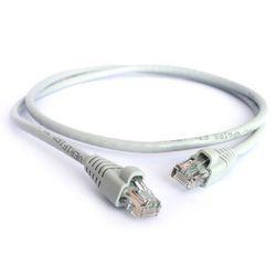Патч-корд UTP кат. 5е, RJ45 0.3м (Greenconnect OEM-LNC03-0.3m) (белый, серый) - КабельСетевые аксессуары<br>Высокотехнологичный современный патч-корд для подключения к интернету на высокой скорости. Прямой, UTP, кат.5е, RJ45, CCS, длина кабеля 0.3м.