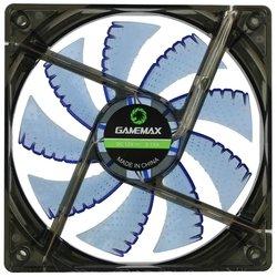 GameMAX GMX-WF12B - Кулер, охлаждениеКулеры и системы охлаждения<br>Система охлаждения для корпуса, 1 вентилятор 120 мм, скорость 1200 об/мин, уровень шума 23 дБ, цвет подсветки: синий.