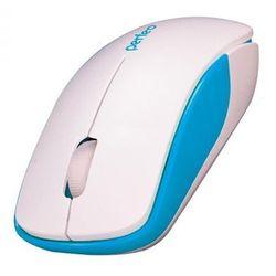 Perfeo ASSORTY (бело-синий) - Мышь, клавиатура для компьютера и планшетаКлавиатуры, мыши, комплекты<br>Беспроводная мышь, интерфейс передатчика USB, 2 кнопки + кнопка-колесо, разрешение: 1000 dpi.