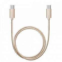 Дата-кабель USB-C - USB-C (Deppa 72247) (золотистый) - КабелиUSB-, HDMI-кабели, переходники<br>Для синхронизации и заряда портативных устройств, разъемы: USB C - USB C, длина 1.2 м, алюминиевые коннекторы, нейлоновая оплетка, USB 2.0, ток нагрузки 3A, скорость передачи данных до 480 Мбит/с.
