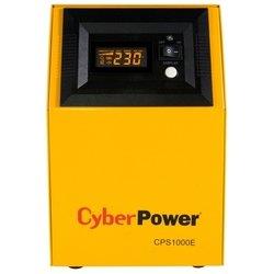 CyberPower CPS 1000E - Источник бесперебойного питания, ИБПИсточники бесперебойного питания<br>CyberPower CPS 1000E - интерактивный, 1000 ВА 600 Вт, разъемов:  2