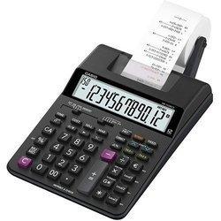 Калькулятор с печатью Casio HR-150RCE-WA-EC (черный) - КалькуляторКалькуляторы<br>Печатающий калькулятор 12-разрядный, питание от батарейки 4хАА (либо адаптер, в комплект поставки не входит), двухцветная печать (ролик IR-40T), скорость печати 2 строки/сек, расчет процентов, наценка/уценка, счетчик операций, проверка 150 действий.