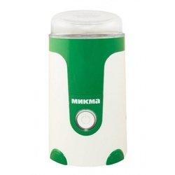 Микма ЭКМУ ИП 33 (белый, зеленый) - КофемолкаКофемолки<br>Напряжение - 220 В, мощность - 150 Вт, емкость чаши - 50 гр, частота вращения ножа - до 30 000 об/мин, длительность размола - до 40 секунд, фиксируемая крышка.