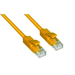 Патч-корд UTP кат. 6, RJ45 0.2м (Greenconnect GCR-LNC602-0.2m) (желтый)