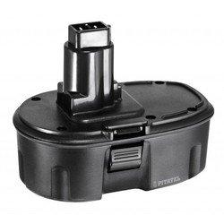 Аккумулятор для инструмента DeWalt (2.1Ah 18V) (TSB-013-DE18A-21M) - АккумуляторАккумуляторы и зарядные устройства<br>Аккумулятор для инструмента DeWalt, напряжение - 18 В, емкость - 2.1 Ач, химический состав: Ni-Mh. Совместимые модели инструмента: DeWalt DC212, DC212B, DC212KA, DC212KB, DC212KZ, DC212N, DC213KB, DC330, DC330K, DC330KA, DC330KB, DC330N, DC380KA, DC380KB, DC380N, DC385, DC385B, DC385K, DC390, DC390B, DC390K, DC390KA, DC390KB, DC390N, DC410, DC410KA, DC410KB.