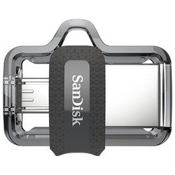 SanDisk Ultra Dual Drive m3.0 16GB - USB Flash driveUSB Flash drive<br>SanDisk Ultra Dual Drive m3.0 16GB - 16Гб, USB 3.0/microUSB, 130Мб/с