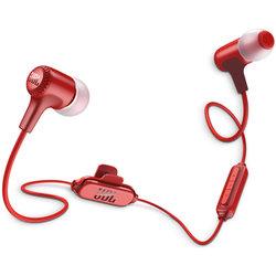 JBL E25ВТ (красный) - НаушникиНаушники и Bluetooth-гарнитуры<br>Bluetooth-наушники с микрофоном, вставные (затычки), поддержка iPhone, 16 Ом, вес 16.50 г, время работы 8 ч, поддержка Bluetooth 4.1