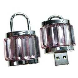 USB 2.0 8GB (Замок) (10325) (розовый) - USB Flash driveUSB Flash drive<br>Флеш-накопитель объемом 8 ГБ, интерфейс USB 2.0, модель Замок розовый, материал металл и стекло.