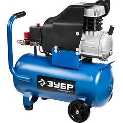 Зубр ЗКПМ-310-24-2.2 (синий) - Воздушный компрессорВоздушные компрессоры<br>Компрессор для пневмоинструмента, воздушный, поршневой, масляный, прямой привод, 310л/мин, 24л, 8Атм, 2200Вт, 220В