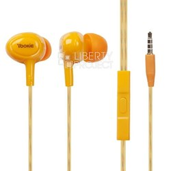 Yookie YK-530 (оранжевый) - НаушникиНаушники и Bluetooth-гарнитуры<br>Yookie YK-530 - наушники с микрофоном, вставные (затычки), разъем mini jack 3.5 mm