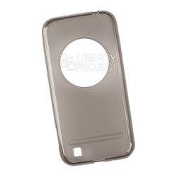 Чехол-накладка для Asus Zenfone Zoom ZX551ML (Liberti Project 0L-00030140) (прозрачный, черный) - Чехол для телефонаЧехлы для мобильных телефонов<br>Защитит смартфон от грязи, пыли, брызг и других внешних воздействий.