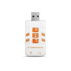 Адаптер ORIENT AU-01PLW (белый) - Звуковая картаЗвуковые карты<br>Переходник с разъемами: гнездо SPK jack 3.5 мм для подключения стерео наушников или колонок, гнездо MIC jack 3.5 мм для микрофона, штекер USB в порт компьютера USB 2.0/USB 1.1. Кнопки: регулировка громкости, выкл.микрофона и наушников, управление Windows плеером.