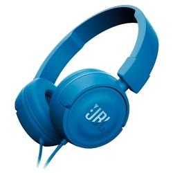 JBL T450 (синий) - НаушникиНаушники и Bluetooth-гарнитуры<br>Наушники с микрофоном, накладные, 32 Ом, разъем mini jack 3.5 mm, вес 320 г.