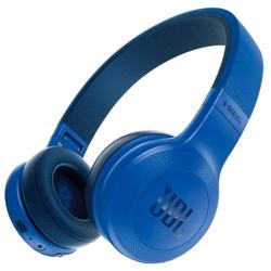 JBL E45BT (синий) - НаушникиНаушники и Bluetooth-гарнитуры<br>Bluetooth-наушники с микрофоном, накладные, 32 Ом, разъем mini jack 3.5 mm, время работы 16 ч.