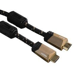 Кабель Hama HDMI (m)-HDMI (m) 3м (Hama 00122211) (черный) - HDMI кабель, переходникHDMI кабели и переходники<br>Кабель аудио-видео, ферритовый фильтр, позолоченные контакты, длина 3м.