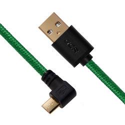 Кабель micro USB 2.0 AM - micro B 5 pin 0.3 м (Greenconnect GCR-UA12AMCB6-BB2SG-0.3m) (зеленый) - Кабель, переходникКабели, шлейфы<br>Для зарядки и синхронизации смартфонов, планшетов.
