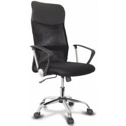 College XH-6101LX (черный) - Стул офисный, компьютерныйКомпьютерные кресла<br>College XH-6101LX - кресло офисное, черная капроновая сетка с вставками из искусственной кожи, максимальный вес 120 кг, твердые подлокотники, хромированная крестовина, высота спинки 65см.
